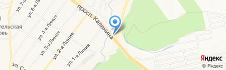 АЗС Лукойл-Югнефтепродукт на карте Горячеводского
