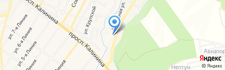Вода КМВ на карте Горячеводского