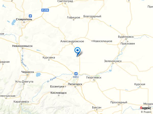 хутор Красный Чонгарец на карте