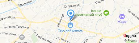 Магазин хозяйственных товаров на карте Горячеводского