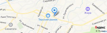 Ветеринарный участок на карте Горячеводского