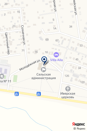 Администрация Ленинского сельского поселения на карте Новотерского