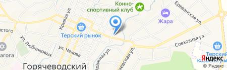 Лицей №20 на карте Горячеводского