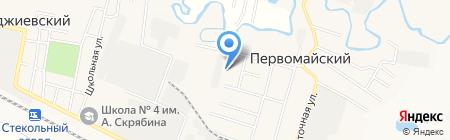 Первомайская врачебная амбулатория на карте Анджиевского