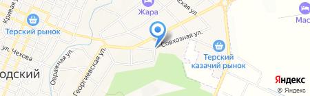 Севкавгидропроект на карте Горячеводского