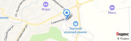 Сафо-КМВ на карте Горячеводского