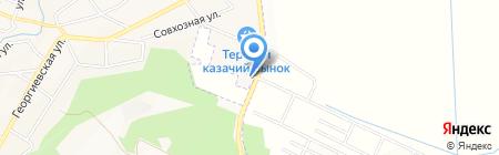 Петросовы на карте Горячеводского