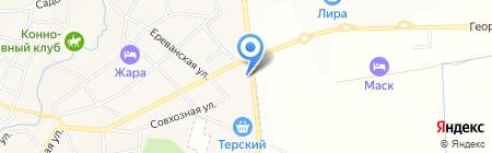 КавказХозТорг на карте Горячеводского