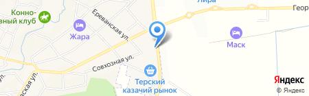 Евродеталь на карте Горячеводского