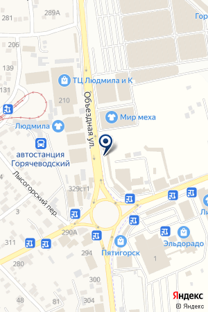 ТФ БОСФОР на карте Пятигорска