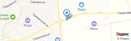 Санги Стиль на карте Горячеводского