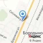 Бештау на карте Пятигорска (КМВ)