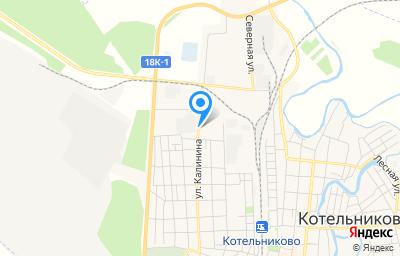 Местоположение на карте пункта техосмотра по адресу Волгоградская обл, г Котельниково, ул Калинина, д 204Ж