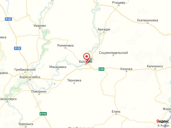 Балашов на карте