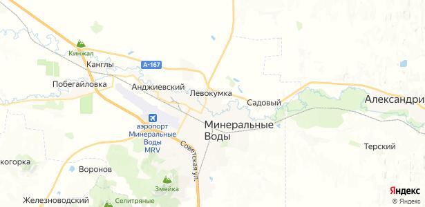 Левокумка на карте