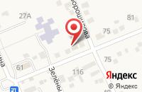 Схема проезда до компании Магазин автотоваров в Константиновской