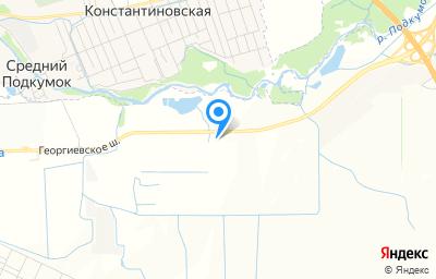 Местоположение на карте пункта техосмотра по адресу Ставропольский край, Предгорный р-н, тер Георгиевское шоссе (с Этока), 6-й км