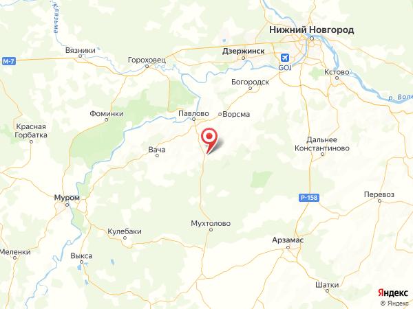 поселок городского типа Сосновское на карте