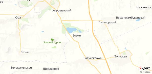 Этоко на карте