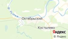 Отели города Октябрьский на карте