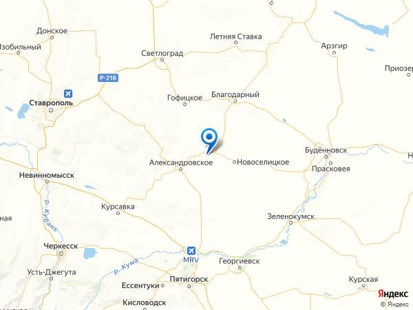 хутор Горный на карте