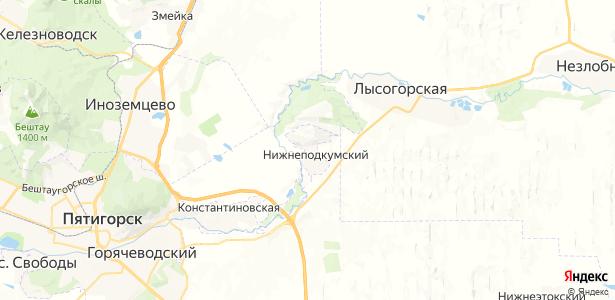 Нижнеподкумский на карте