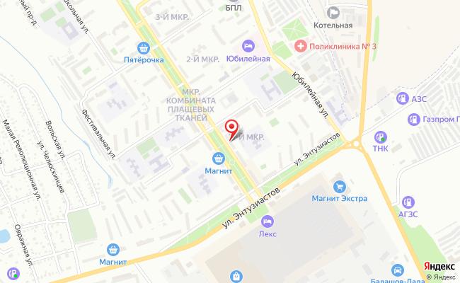 Карта расположения пункта доставки Билайн в городе Балашов