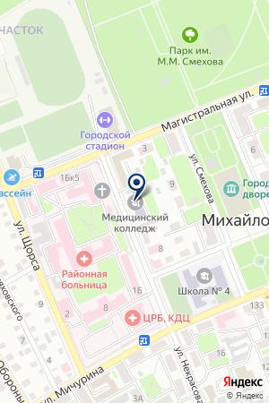 АПТЕКА ВОЛГОФАРМ на карте Михайловки