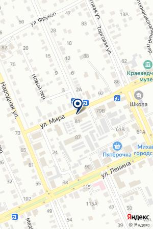 МАГАЗИН КОРОНА АБС на карте Михайловки