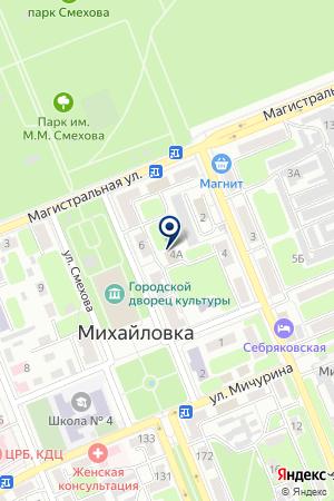 ДЕТСКАЯ МУЗЫКАЛЬНАЯ ШКОЛА № 1 на карте Михайловки