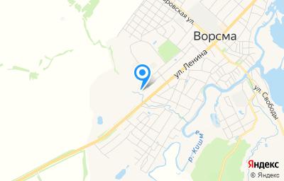 Местоположение на карте пункта техосмотра по адресу Нижегородская обл, Павловский р-н, г Ворсма, ул Ленина, д 200А
