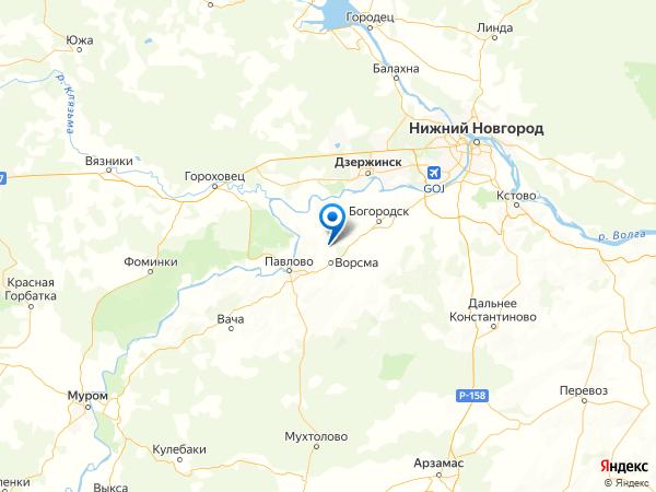 деревня Комарово на карте