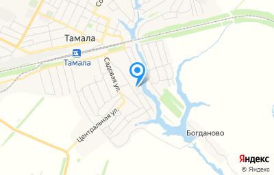Местоположение на карте пункта техосмотра по адресу Пензенская обл, рп Тамала, ул Овражная, д 3