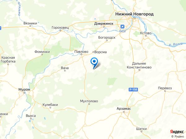 деревня Сергейцево на карте