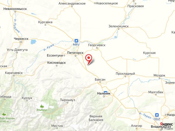 станица Зольская на карте