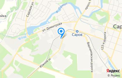 Местоположение на карте пункта техосмотра по адресу Нижегородская обл, г Саров, ш Южное, д 12 стр 14а