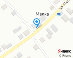 Схема местоположения почтового отделения 361710