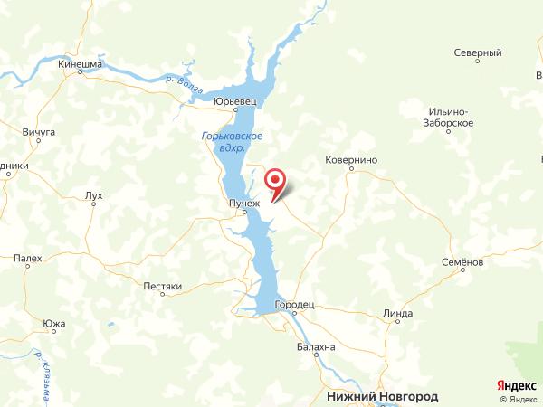 деревня Горшки на карте