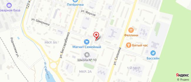 Карта расположения пункта доставки СИТИЛИНК в городе Саров