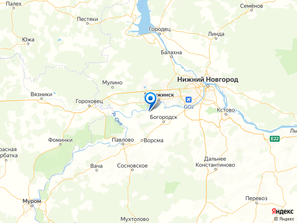 село Подвязье на карте