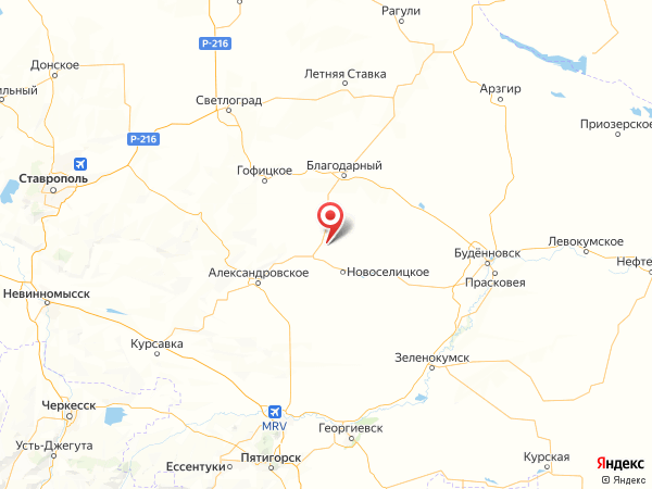 поселок Артезианский на карте