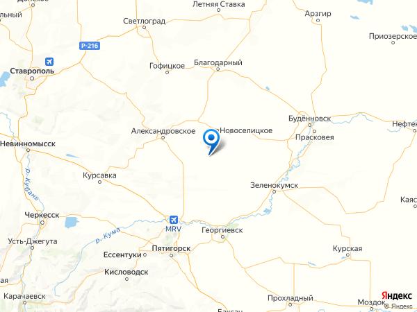 село Долиновка на карте