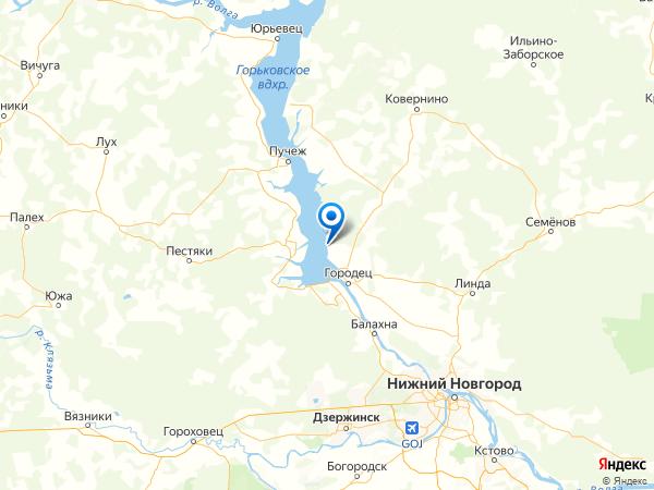 коттеджный поселок Прибой на карте