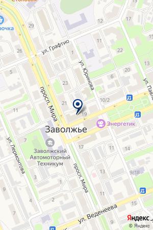 ГОРОДЕЦКАЯ АВАРИЙНО-ДИСПЕТЧЕРСКАЯ СЛУЖБА на карте Заволжья