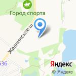 Пушкино на карте Дзержинска