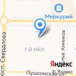 Кораблик на карте Дзержинска
