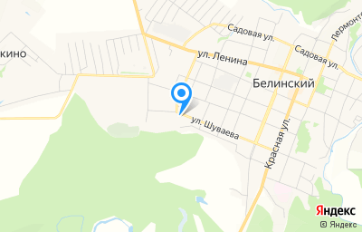 Местоположение на карте пункта техосмотра по адресу Пензенская обл, г Белинский, ул Шуваева, д 149