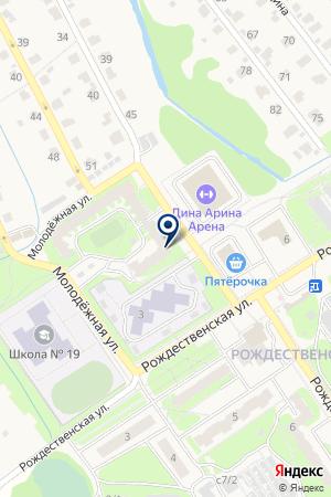 ГОСТИНИЦА МОЛОДЕЖНАЯ на карте Заволжья