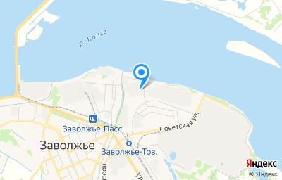 Местоположение на карте пункта техосмотра по адресу Нижегородская обл, Городецкий р-н, г Заволжье, ул Лесозаводская, д 37