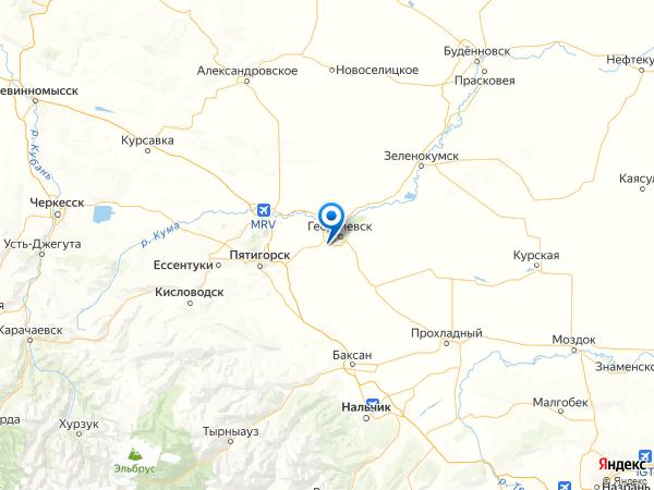 станица Незлобная на карте
